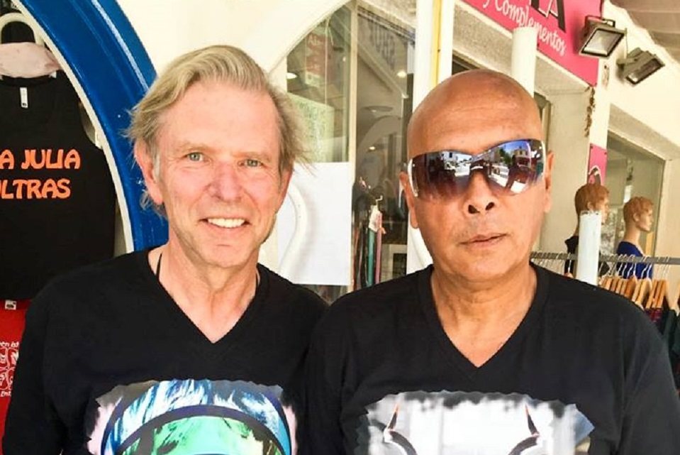 Lenny with  Norbert Schafer in Mallorca