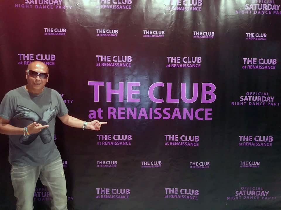 Preparing for the show at The Club at Renaissance