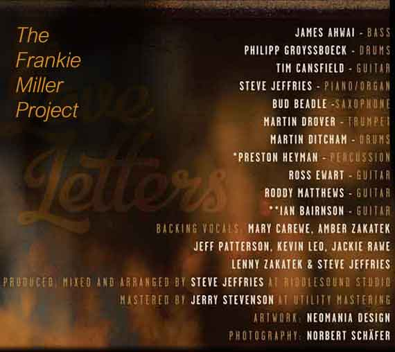 Frankie Miller Project